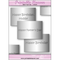 Download - Digital Paper Pad - Male Greetings Inserts