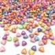 Pastel Heart Beads (100pcs)