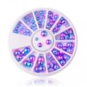 Mermaid Half-pearl Wheel - Blue/purple (20g)