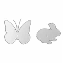 Printable Heaven dies - Bunny & Butterfly (2pcs)