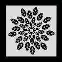 Reusable Stencil - Leaf Mandala (1pc)