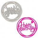 Printable Heaven die - Round Happy Birthday (1pc)