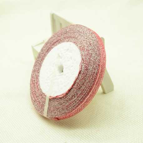 Metallic Ribbon - 7mm Red/Silver (22.86 metres)