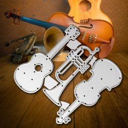 Printable Heaven dies - Musical Instruments (3pcs)