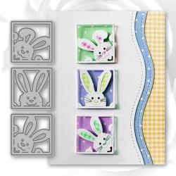 Printable Heaven dies - Bunny Squares (3pcs)