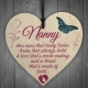 Wooden sign - Nanny (1pc)