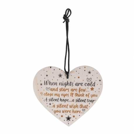 Wooden sign - When Nights are Cold (1pc)