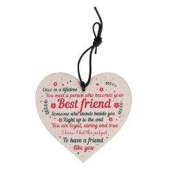 Wooden sign - Best Friend (1pc)