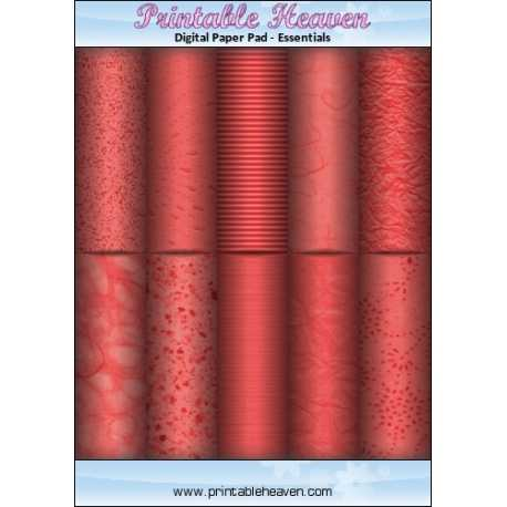 Download - Digital Paper Pad - Paper Effects - Red