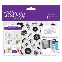 A6 Clear Stamp Set (40pcs) - Folk Floral (DCE 907119)