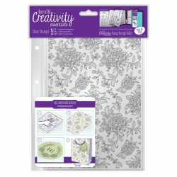 A5 Clear Background Stamp (1pc) - Floral Background (DCE 907127)