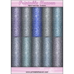Download - Digital Paper Pad - Floral Shades Blue