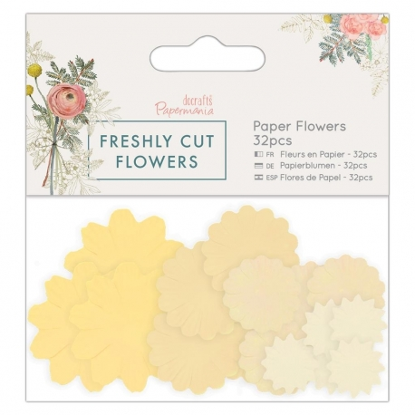 Paper Flowers (32pcs) - Freshly Cut Flowers (PMA 157278)