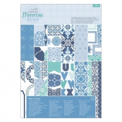 A4 Ultimate Die-cut & Paper Pack (48pk) - Moroccan Blue (PMA