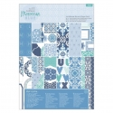 A4 Ultimate Die-cut & Paper Pack (48pk) - Moroccan Blue (PMA 160263)