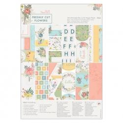 A4 Ultimate Die-cut & Paper Pack (48pk) - Freshly Cut Flowers (PMA 160331)