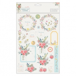 A4 Decoupage Pack - Freshly Cut Flowers, With Love (PMA 169149)