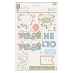 A4 Decoupage Pack - Freshly Cut Flowers, Hello (PMA 169150)