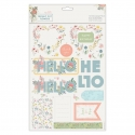 A4 Decoupage Pack - Freshly Cut Flowers, Hello (PMA 169150)