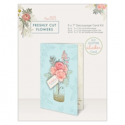 "5 x 7"" Decoupage Card Kit - Freshly Cut Flowers (PMA 169151)"
