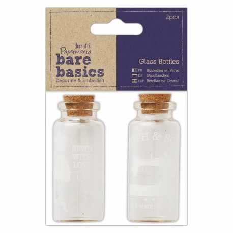 Glass Bottles (2pcs) - Haberdashery (PMA 174778)
