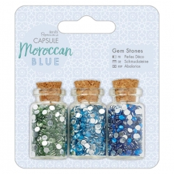 Gem Bottles (3pcs) - Moroccan Blue (PMA 356007)
