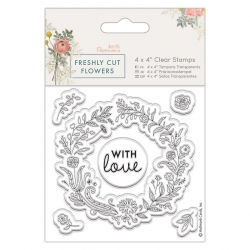 4 x 4 Clear Stamp - Freshly Cut Flowers, Floral Wreath (PMA