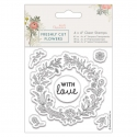 4 x 4 Clear Stamp - Freshly Cut Flowers, Floral Wreath (PMA 907264)