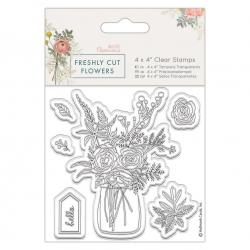 4 x 4 Clear Stamp - Freshly Cut Flowers, Flower Vase (PMA 907265)