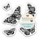 Butterfly Stamps (5pcs) - Kaleidoscope (PMA DCM 091)