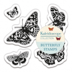 Clear Stamps (5pcs) - Kaleidoscope Butterflies (PMA DCM 091)