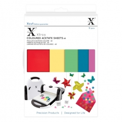 Xcut Xtras A5 Coloured Acetate Sheets 15pcs (XCU 174401)