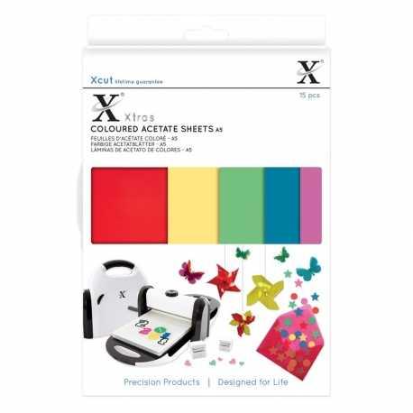 Xcut Xtras A5 Coloured Acetate Sheets 15pcs (XCU 174401)