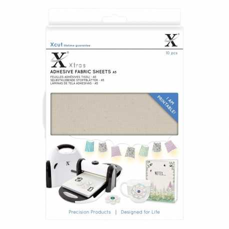 Xcut Xtras A5 Adhesive Fabric Sheets 10pcs (XCU 174404)