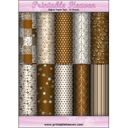 Download - Digital Paper Pad - Chocolate Fudge