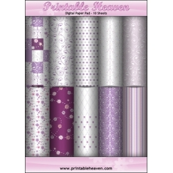 Download - Digital Paper Pad - Luscious Lilacs