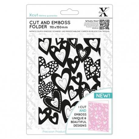 Cut & Emboss Folder - Multi Hearts (XCU 503821)
