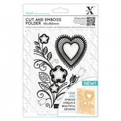 Cut & Emboss Folder - Folk Heart (XCU 503823)