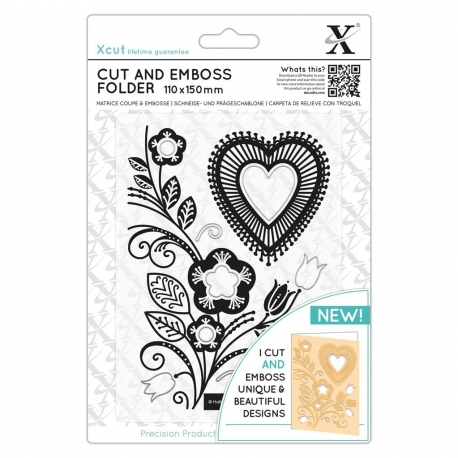 Cut & Emboss Folder - Folk Heart (XCU 503823)