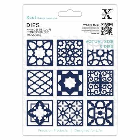 Dies (9 pcs) - Moroccan Tiles (XCU 504120)