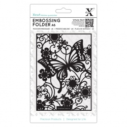 A6 Xcut Embossing Folder - Butterfly Meadow (XCU 515188)