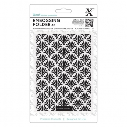 A6 Xcut Embossing Folder - Art Deco Pattern (XCU 515207)