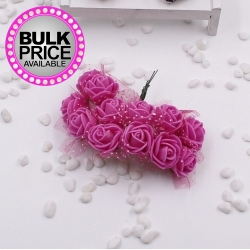 Foam Roses - Deep Pink (Bunch of 12)