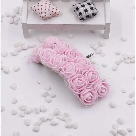 Foam Roses - Pale Pink (Bunch of 12)