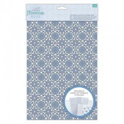 A4 Vellum and Laser Cut Paper Pack (16pk) - Moroccan Blue (PMA