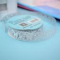 Self-adhesive Lace tape - Glitter Silver (14mm x 1m)