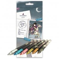 Metallic Pens (6pk) - Bullet Tip, Gorjuss (GOR 851103)