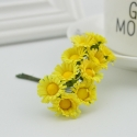 Mini Fabric Daisy Bunch - Yellow (10 flowers)