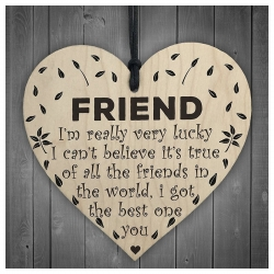 Wooden sign - Friend (1pc)
