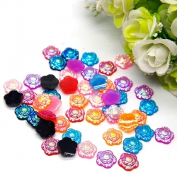 Resin Flowers Iridescent Assorted (38pcs)